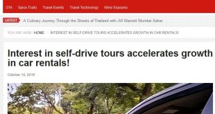 Interest in self-drive tours accelerates growth in car rentals! – Voyager's World