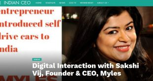 Digital Interaction with Sakshi Vij – IndianCEO